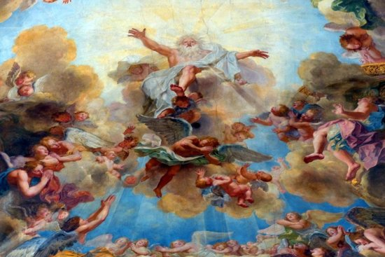 La Chapelle Royale : Frescos in Royal Chapel