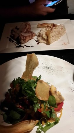 Aqui : plato del dia del chef y frutos de mar estilo thai