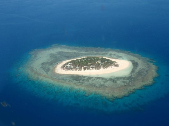 Navini island from air