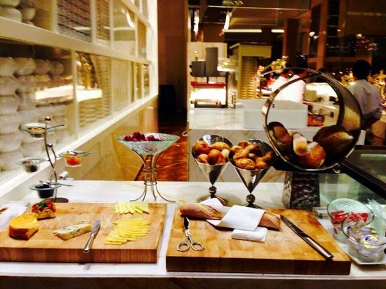The Cafe: Cheese and bread available, but there are many other too good to be missed