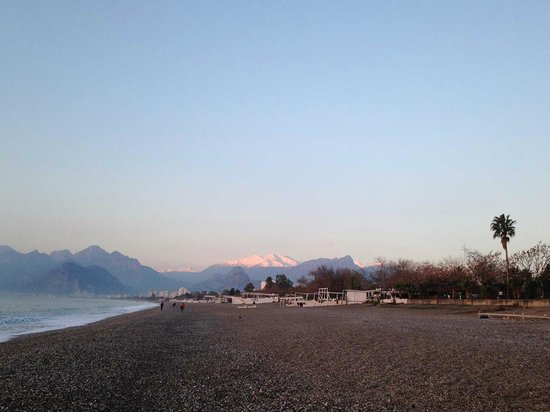 Beach just near the Rixos Downtown Antalya