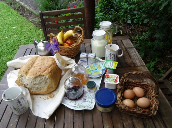 Dylans Country Cottages: Delicious breakfast