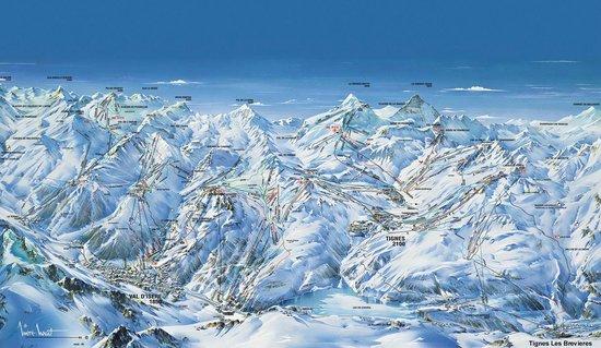 Chalet Chardons : piste map