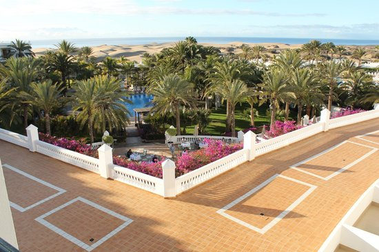 """Hotel Riu Palace Maspalomas: """"Sea view"""" room view 3045 - very nice but you see more than just the sea"""