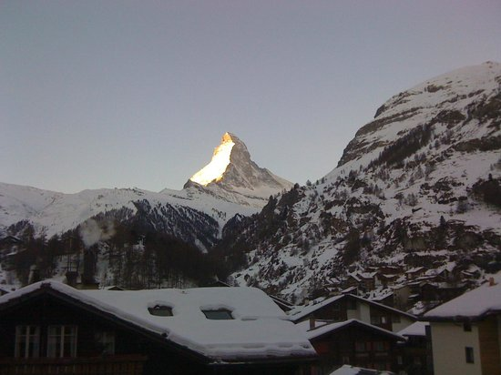 BELLERIVE - CHIC HIDEAWAY: View from upper floor Matterhorn side