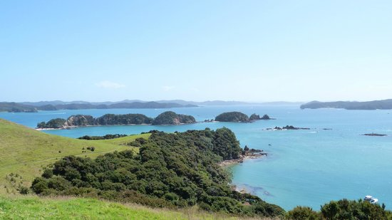 Blue Pacific Apartments Paihia: View from Island stopover Dolphin Cruise
