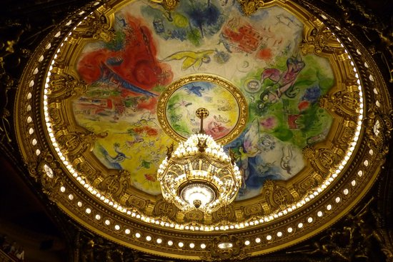 Opera district: Chagall Ceiling painting at Opera National
