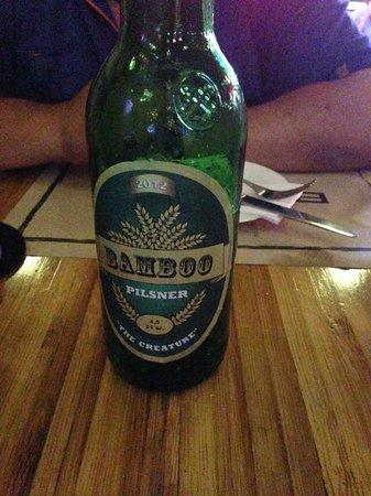 Bamboo Bar & Grill : Bamboo beer