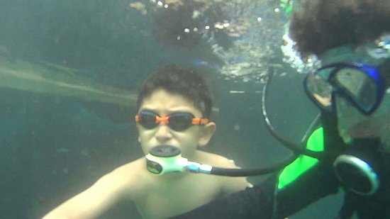 Media Luna School of Diving: Rodrigo aprendiendo a bucear en la media luna