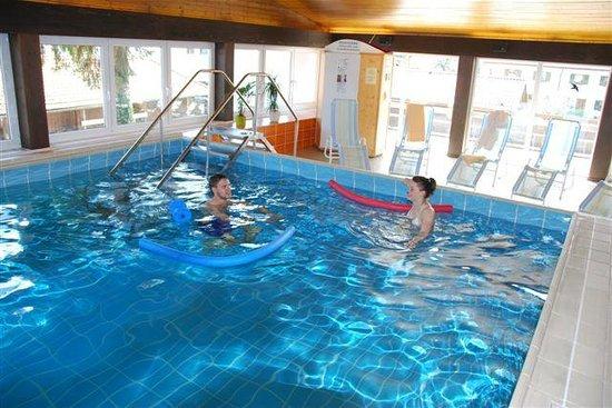 Alpenhotel Ohlstadt : Schwimmhalle mit Panoramablick
