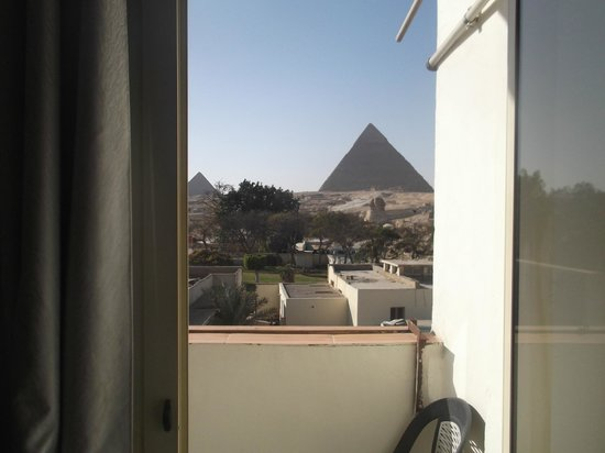 View from our room, Pyramids View Inn