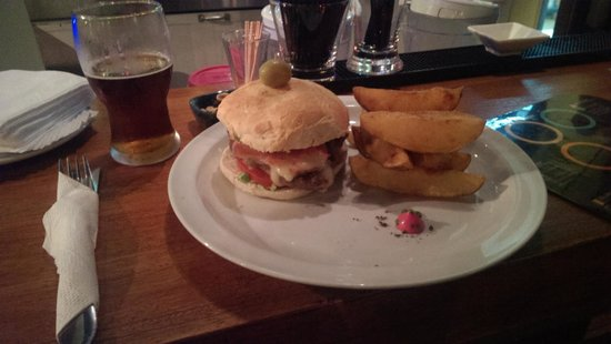 Montevideo Brew House: The chivito. Super tasty!