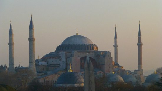 Blaue Moschee (Sultan-Ahmed-Moschee): Viewed from a distance