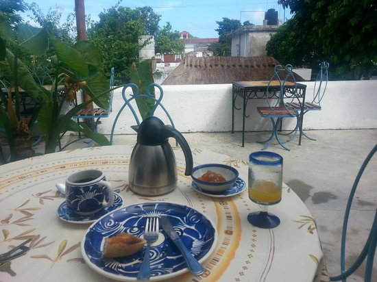 Tamarindo Bed and Breakfast: Breakfast on the terrace