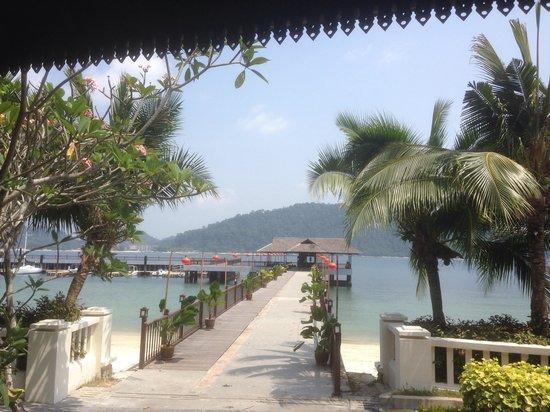 Pangkor Laut Resort: Arrivée par bateau