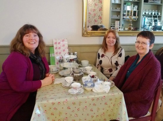 The Tea Party: The Girls and me after a lovely lunch nothing left