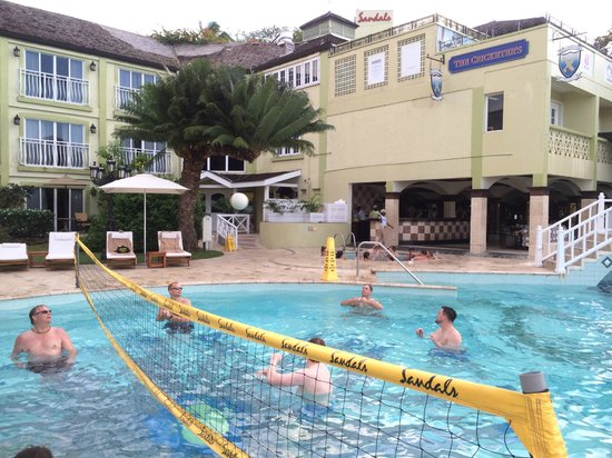 Sandals Regency La Toc: Afternoon Pool Volleyball