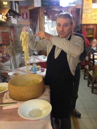 Ristorante 13 Gobbi: Albo rubbing pasta