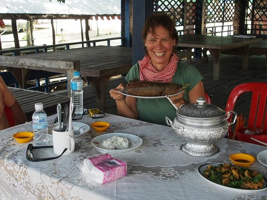 Tonle Bati : Fresh fish lunch