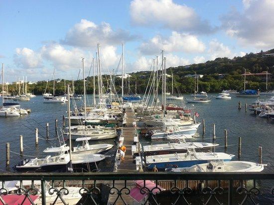 Caribbean Saloon: marina right outside/mountains & ocean views