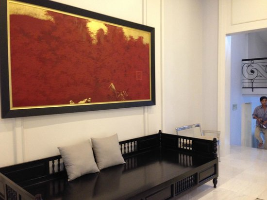 Villa Song Saigon: reception avec une laque magnifique