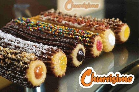 Churros Churrisimo: Estos son nuestros churros gourmet, bañados en chocolate belga, buenazos¡
