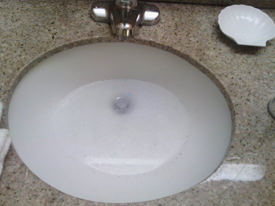 Clarion Suites: backed up sinks