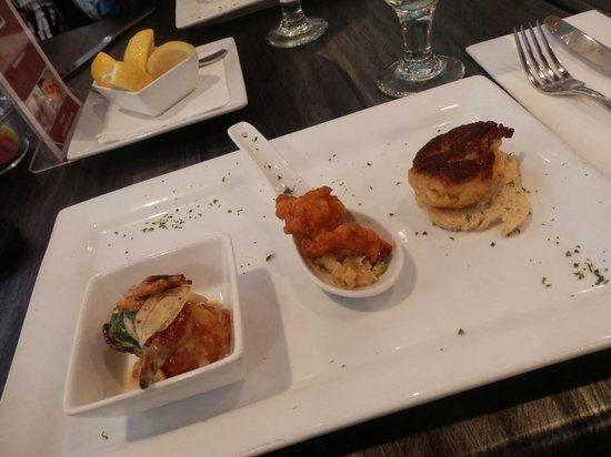 Sarasota Culinary Tours: seafood teaser bites at Duval's