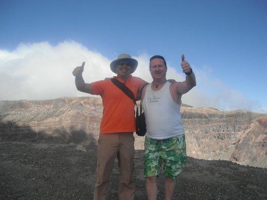Royal Decameron Salinitas: guide Jaun Carlos on top of santa ana volcano
