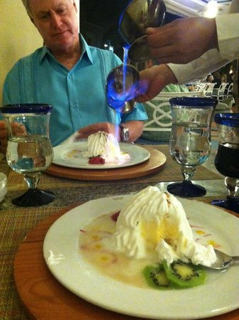 Hotel Riu Palace Las Americas : Alaska Souffle at the Steakhouse dinner