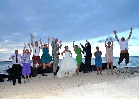 Victoria Beachcomber Resort & Spa : Picture on the beach