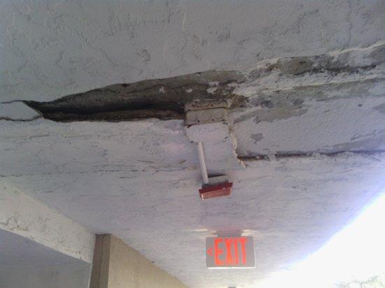 Clarion Suites: breezeway debris infrastructure deterioration