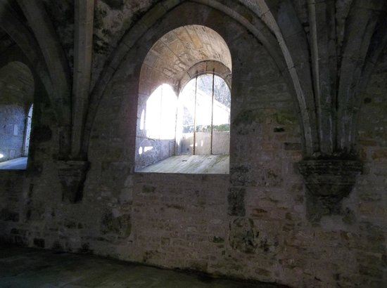 Abbaye de Fontenay: Fontenay-sun streaming in on a January day (but it was not warm)