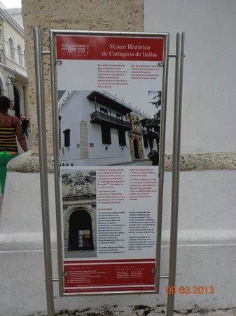 Museo Historico de Cartagena de Indias : Afiche informativo