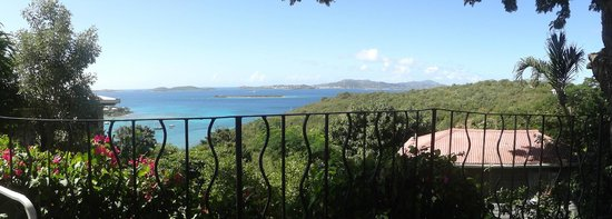 Estate Lindholm : View toward St. Thomas from pool patio.