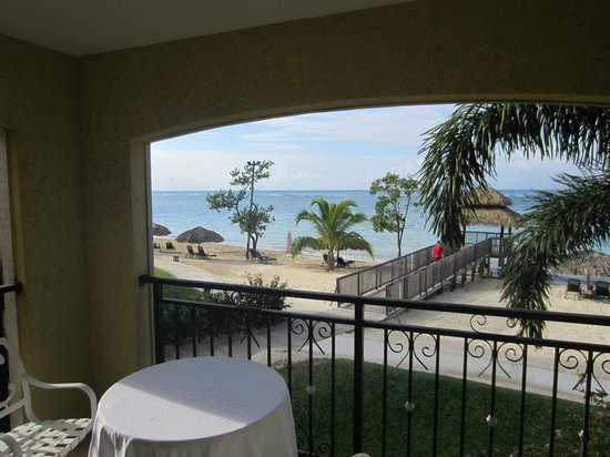 Sandals South Coast : Ocean View from Balcony of 2201 Dutch Village