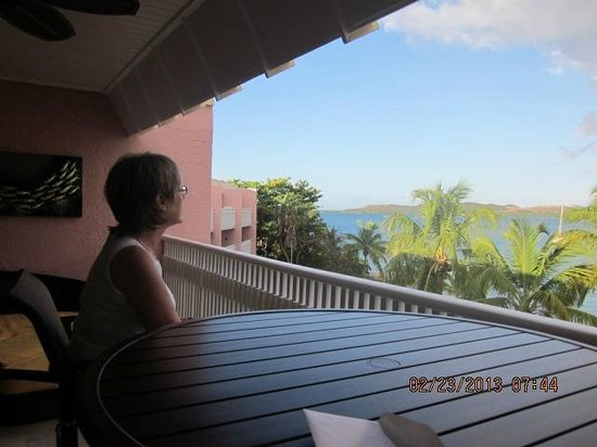 Secret Harbour Beach Resort: Enjoying the view from our balconey