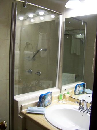 Toscana Inn Hotel: glass shower