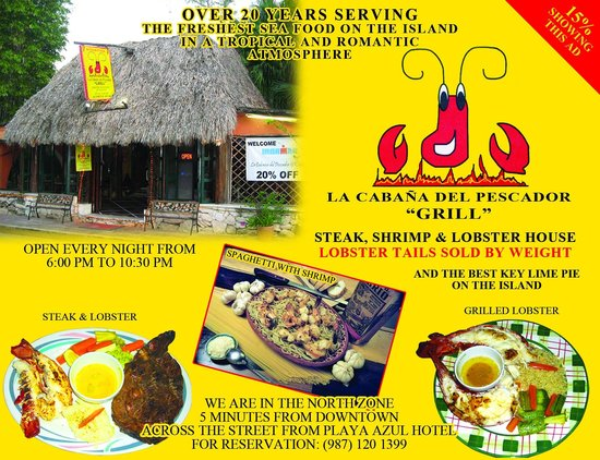 La Cabana del Pescador: mention this promotion and get 15% off