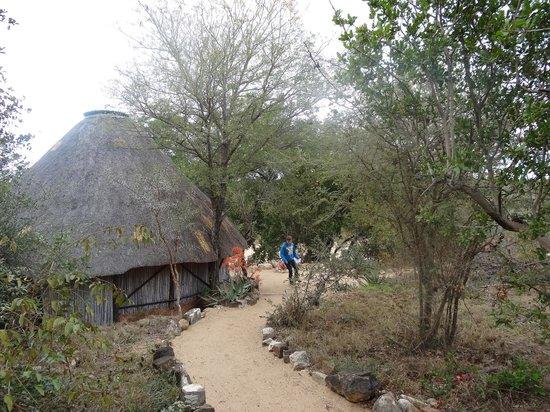 Umlani Bushcamp: Een van de rondavels op het terrein