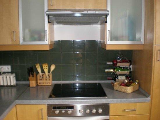 Babka Tower Suites: Apartment. Kitchen area.