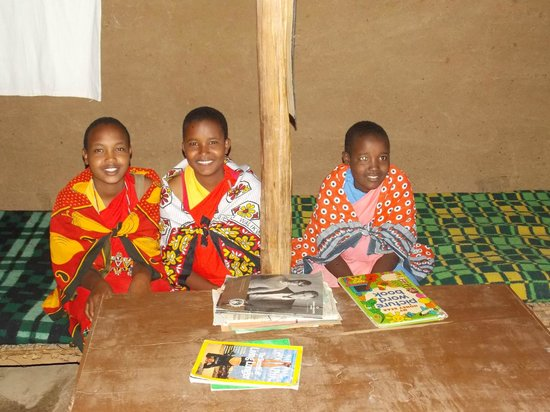 Maji Moto Maasai Cultural Camp: Rescued Girls who live in the Widow's village