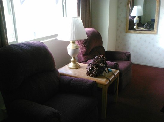 Svendsgaard's Lodge - Americas Best Value Inn : Comfy twin recliners