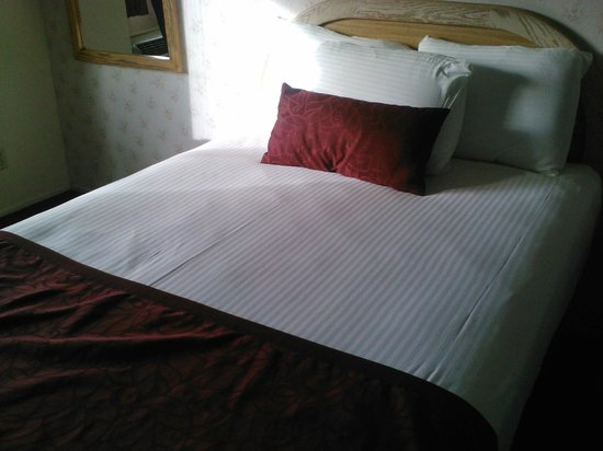 Svendsgaard's Lodge - Americas Best Value Inn : Snow white linens