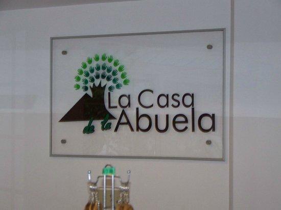 La Casa de la Abuela: the lobby wall