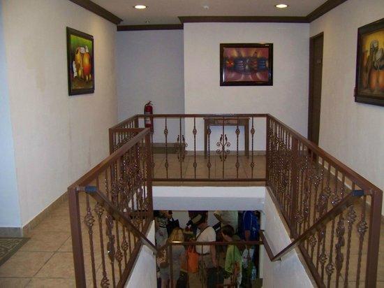 La Casa de la Abuela: the stairs to the rooms