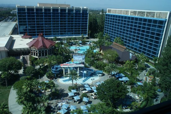 Disneyland Hotel View From Frontier Tower
