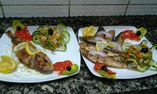 Restaurant l'Or Vert : sardines et dorades grillées