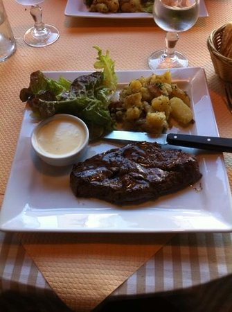 Le Bouchon Normand: pièce du boucher et sauce pont-l'eveque