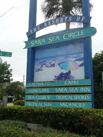 Captiva Beach Resort: entrada al circuito de hoteles